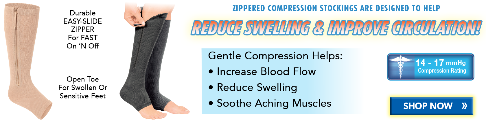 Zippered Compression Stockings Desktop
