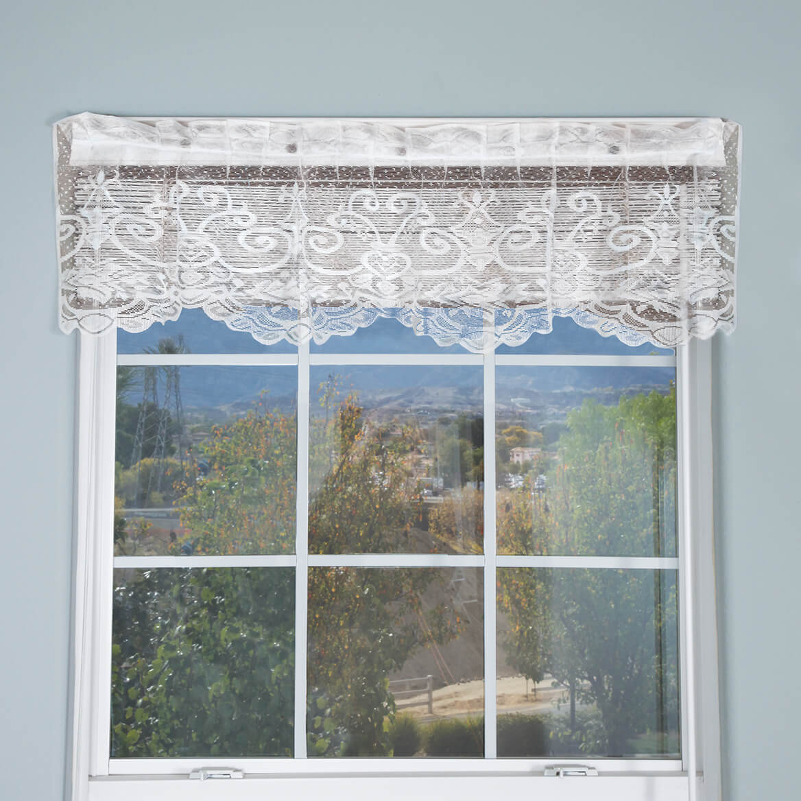 Magnetic Floral Lace Valance-352254