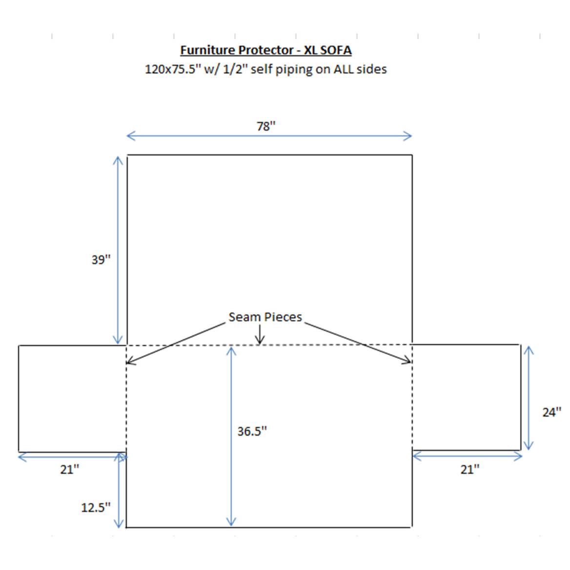 Deluxe Microfiber XL Sofa Cover by OakRidge™-358281