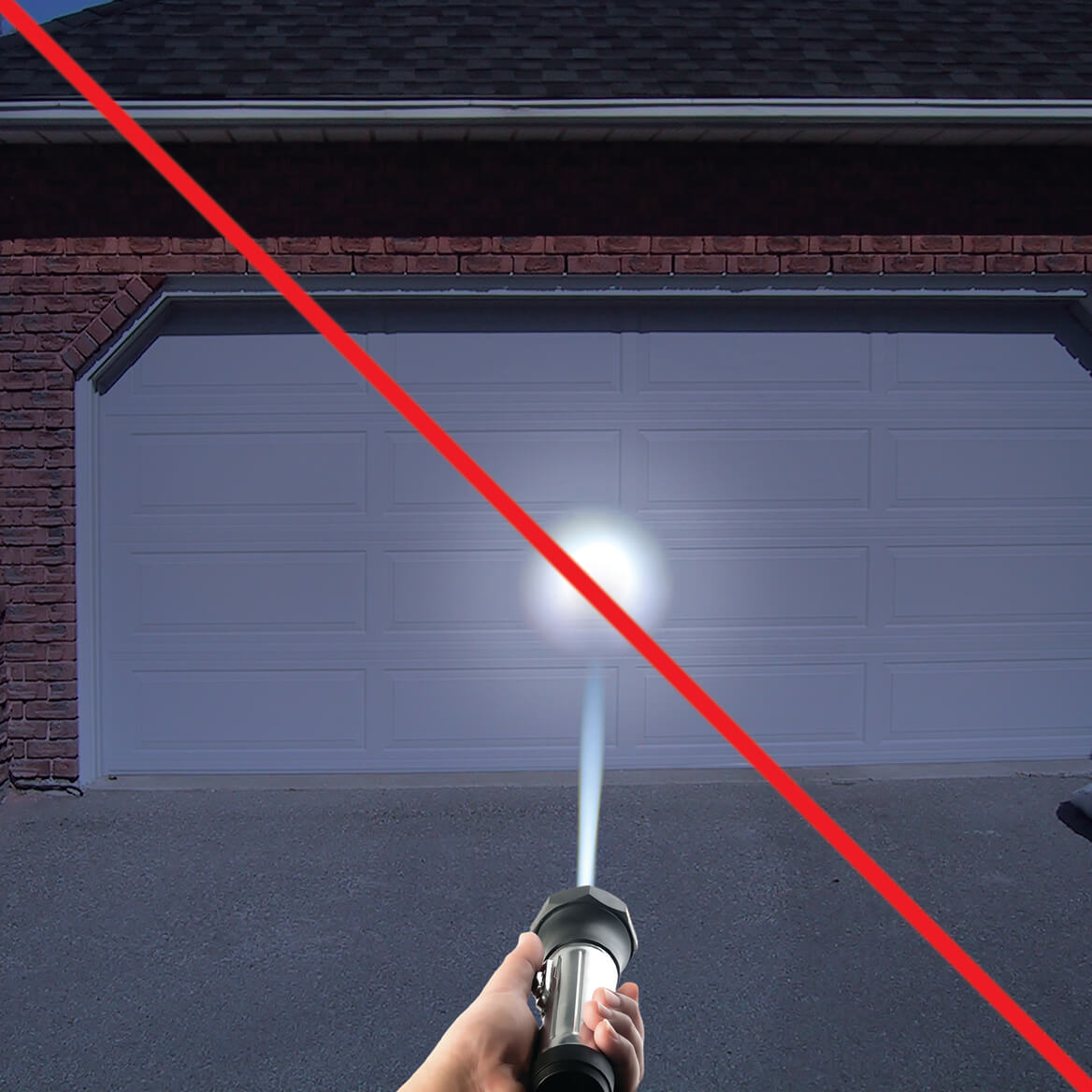 Wide Beam LED Flashlight-360441