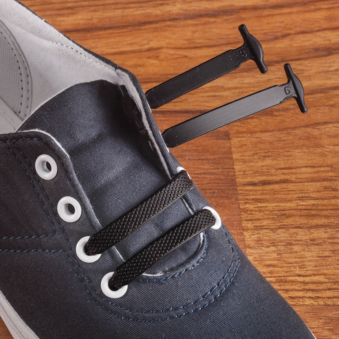 Silver Steps™ No Tie Stretch Shoe Laces-366371