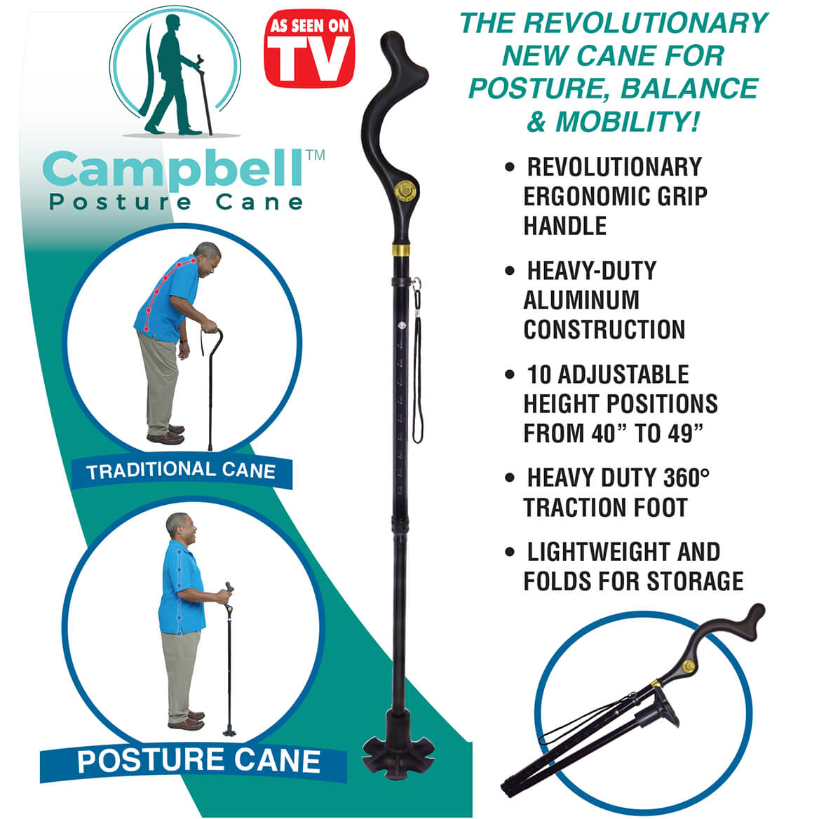 As Seen on TV Campbell Posture Cane-368020