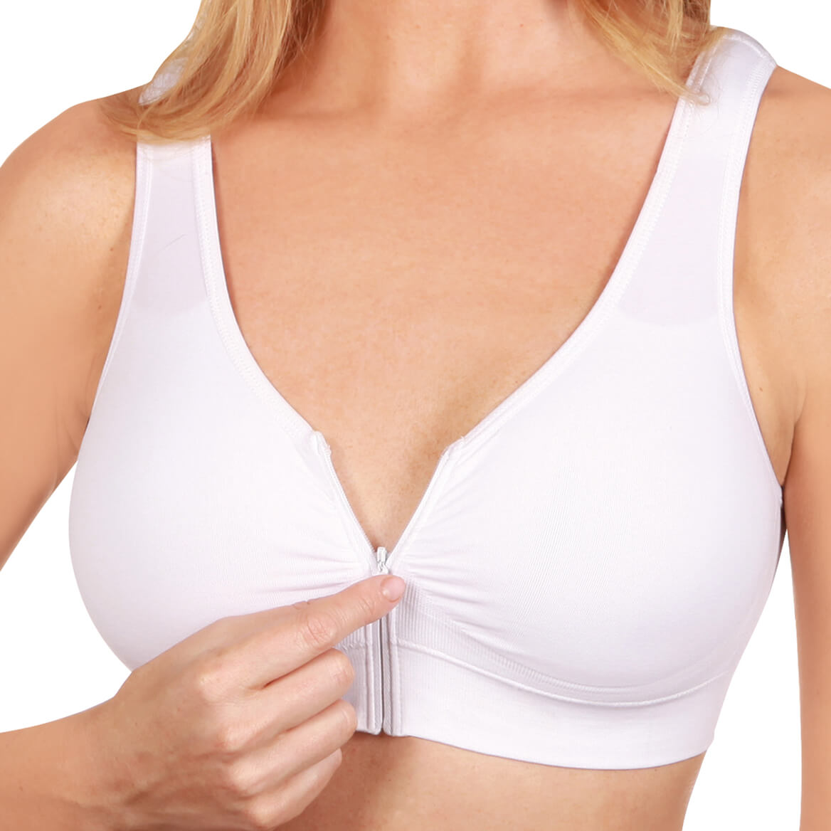 Easy Comforts Style™ Cooling Zip Front Bra-369234