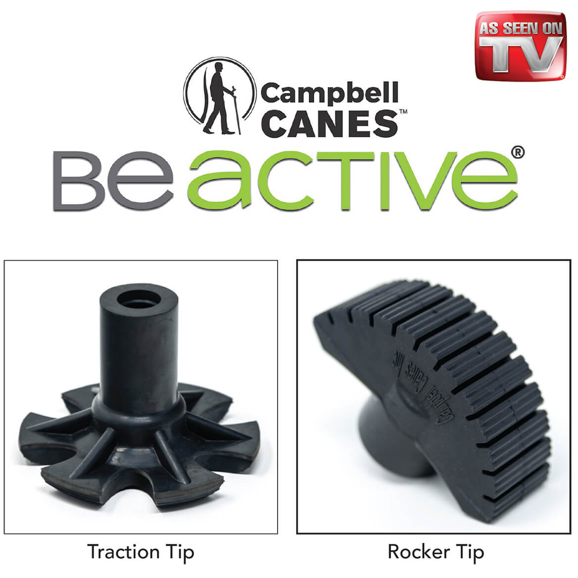 As Seen On TV Campbell Posture Cane Rocker Tip-369481