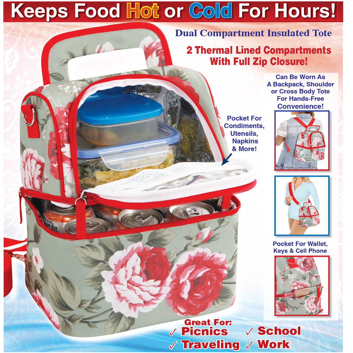 Dual Compartment Insulated Tote-369770