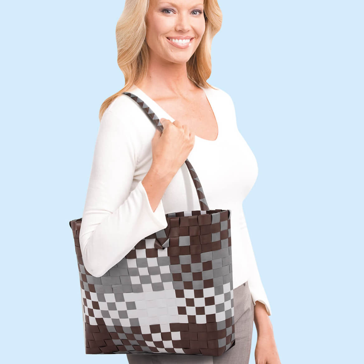 Basket Weave Tote Bag-369774