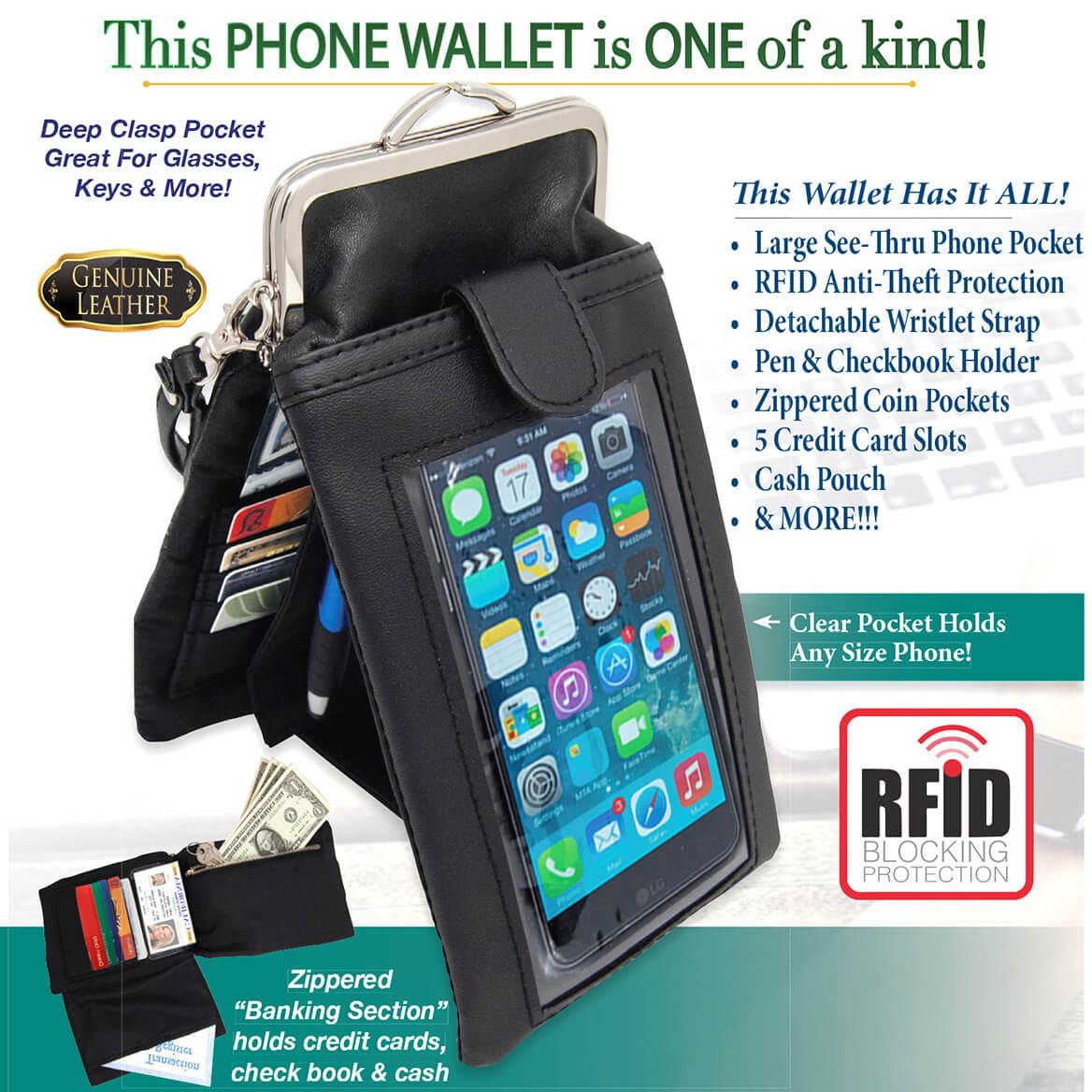 Easy View Black Phone Wallet-369781