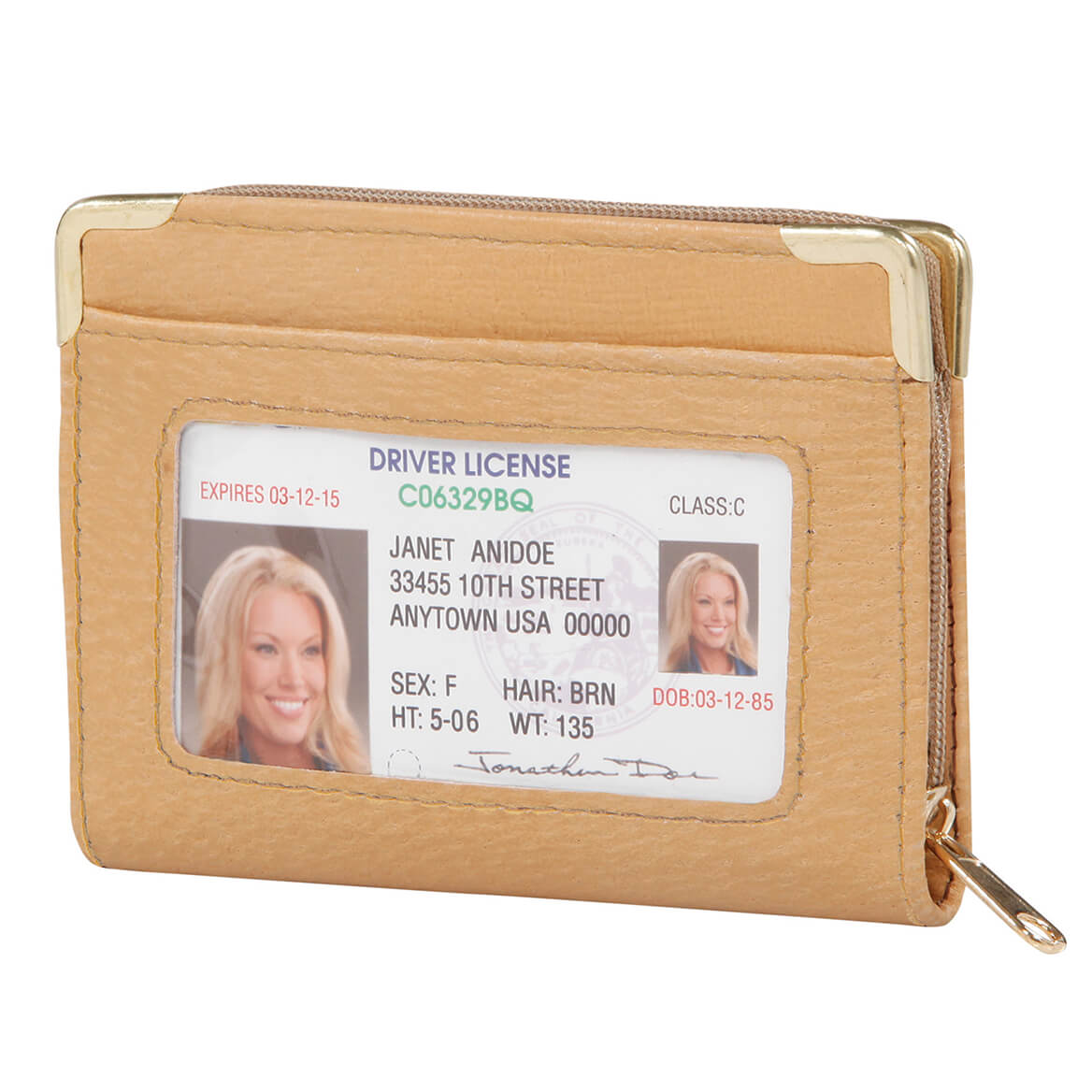 RFID Zip Up Security ID Credit Card Case-369955