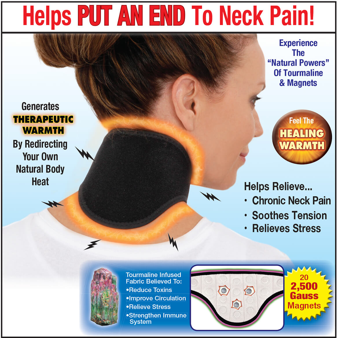 Therapeutic Magnetic Neck Wrap-370051