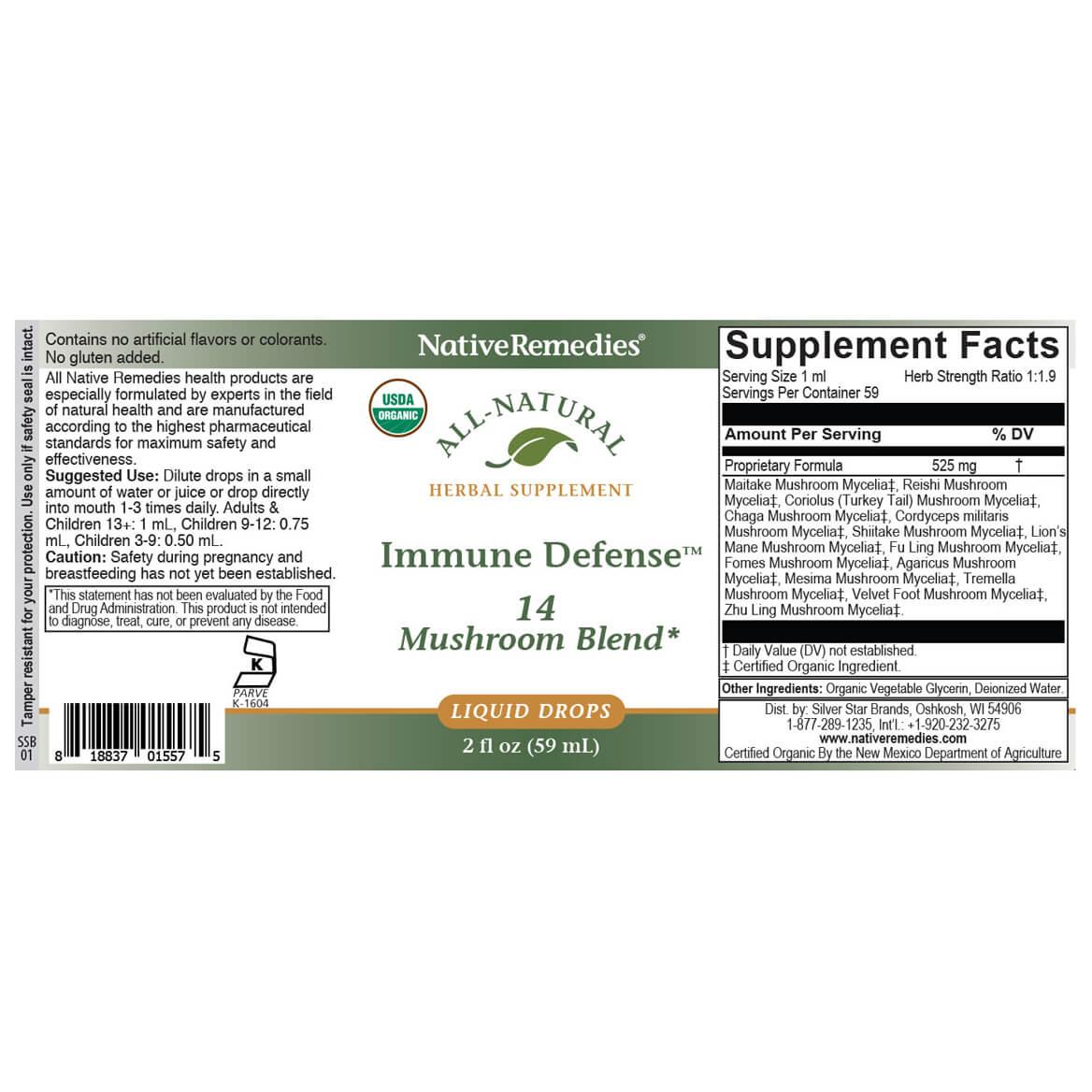 NativeRemedies® Immune Defense - 14 Mushroom Blend-370986