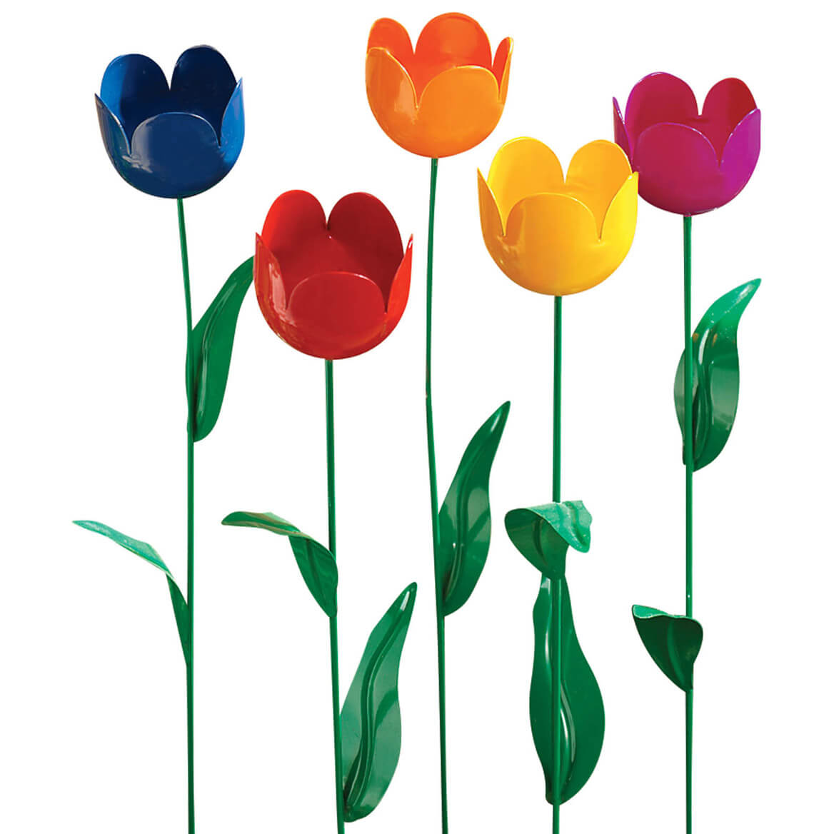 Metal Tulip Stakes, Set of 5-312866