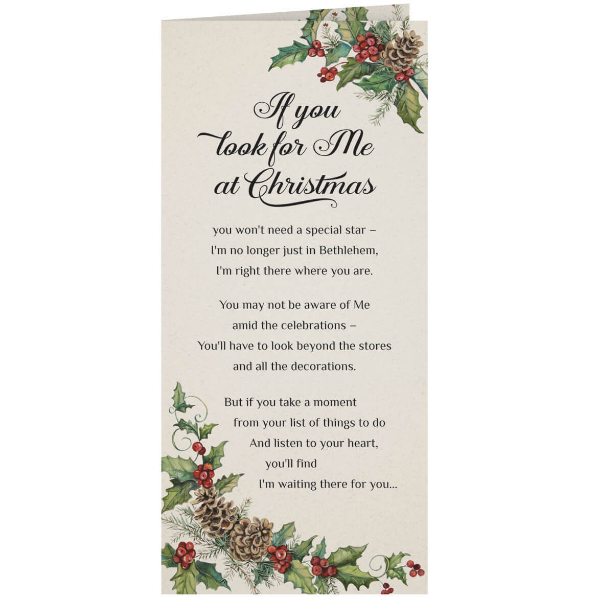 Personalized Looking for Jesus Christmas Card, Set of 20-360175
