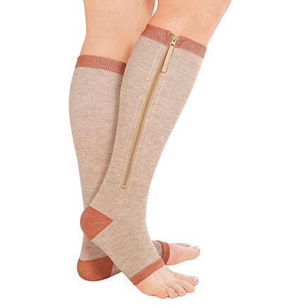 Copper Support Zip Socks