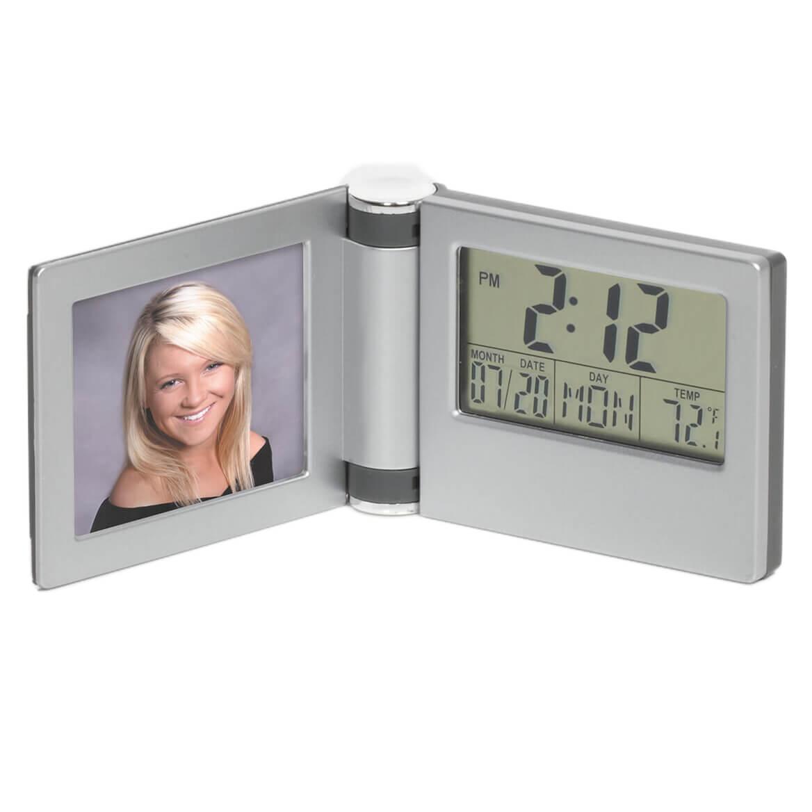 LCD Clock Calendar w/ Photo Frame-370226