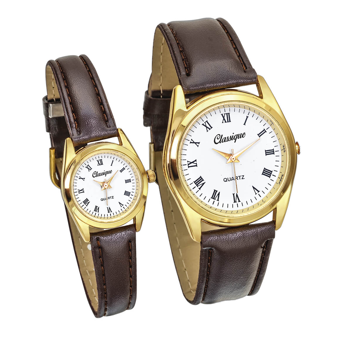 His & Hers Goldtone Watch Set-371136